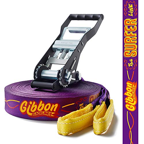 Gibbon Slacklines - Surfline, Purple, 98-Feet