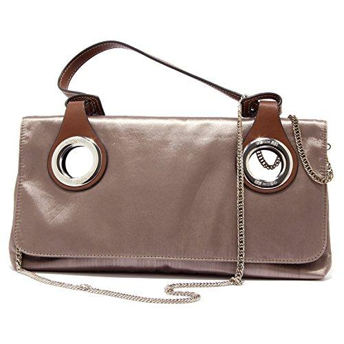 0443U borsa donna GEOX pochette bronzo metallic brown handbag woman bronzo