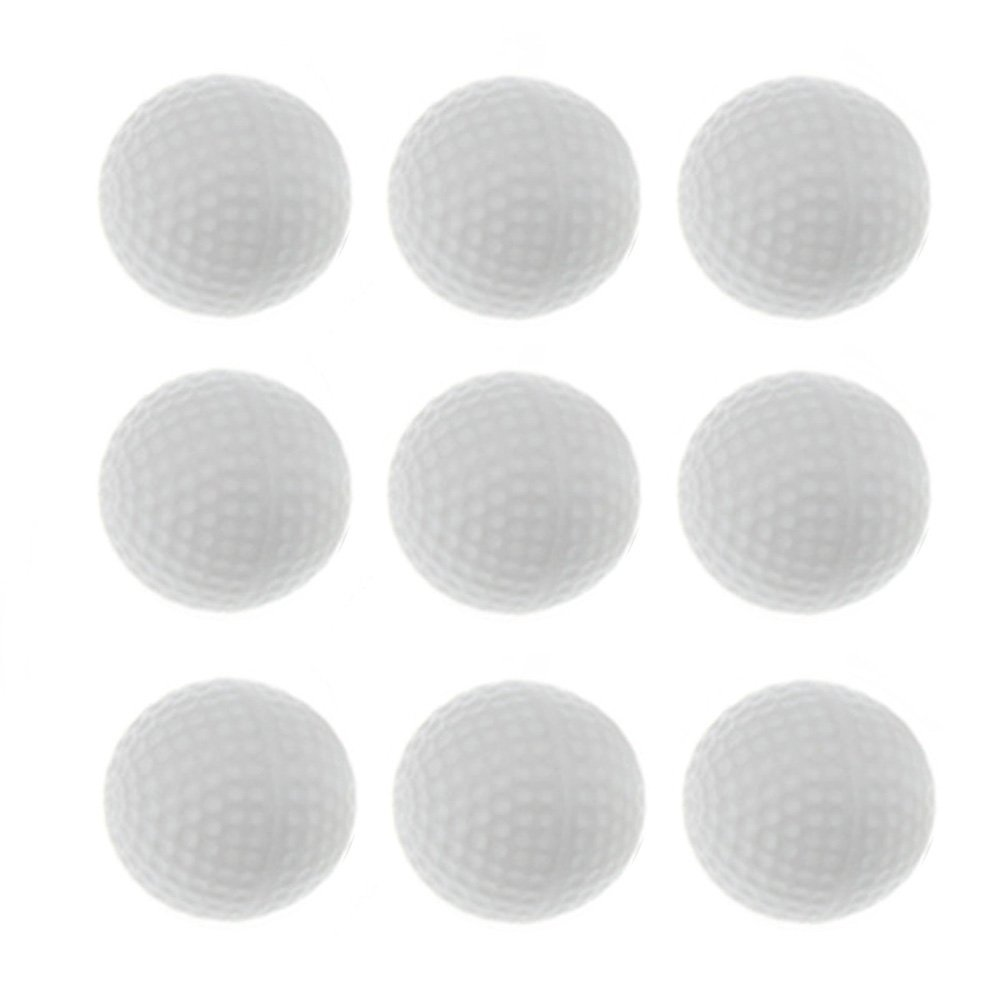 Crestgolf Durable Plastic Practice Hollow Indoor Golf Ball---white,pack of 50pcs