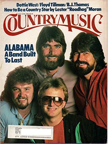 COUNTRY MUSIC magazine May/June 1984 (Number 107, Dottie West, Floyd Tillman, B.J. Thomas, How To be a country star by Lester Roadhog Moran, Alabama on cover)