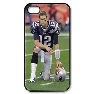 Tom Brady Series, IPhone 4/4s Cases, Tom Brady Under The Helmet Cases For IPhone 4/4s [Black]