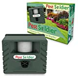 6-in-1 Pest Soldier Sentinel, Outdoor Electronic Pest Animal Ultrasonic Repeller, with Ac Adaptor, For Deer Raccoon Rabbits Birds