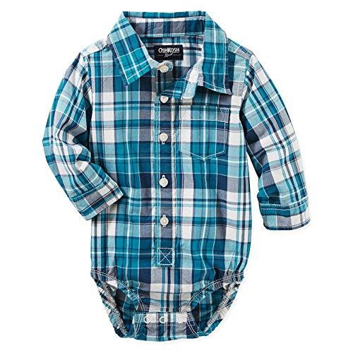 OshKosh BGosh Baby Boys Plaid Button Front Poplin Bodysui...