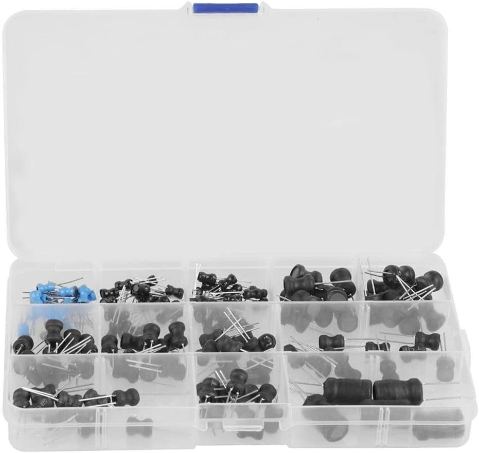 145Pcs 10Uh-10Mh 12 Values Choke Inductors Assorted Transistor Assortment Kit Inductor Coil