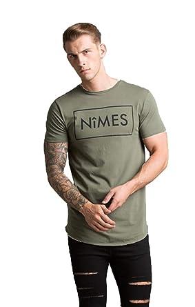 7b8cc5b1d7e8 Nimes T-Shirt Core Brand Crew Neck - Khaki - XL: Amazon.co.uk: Clothing