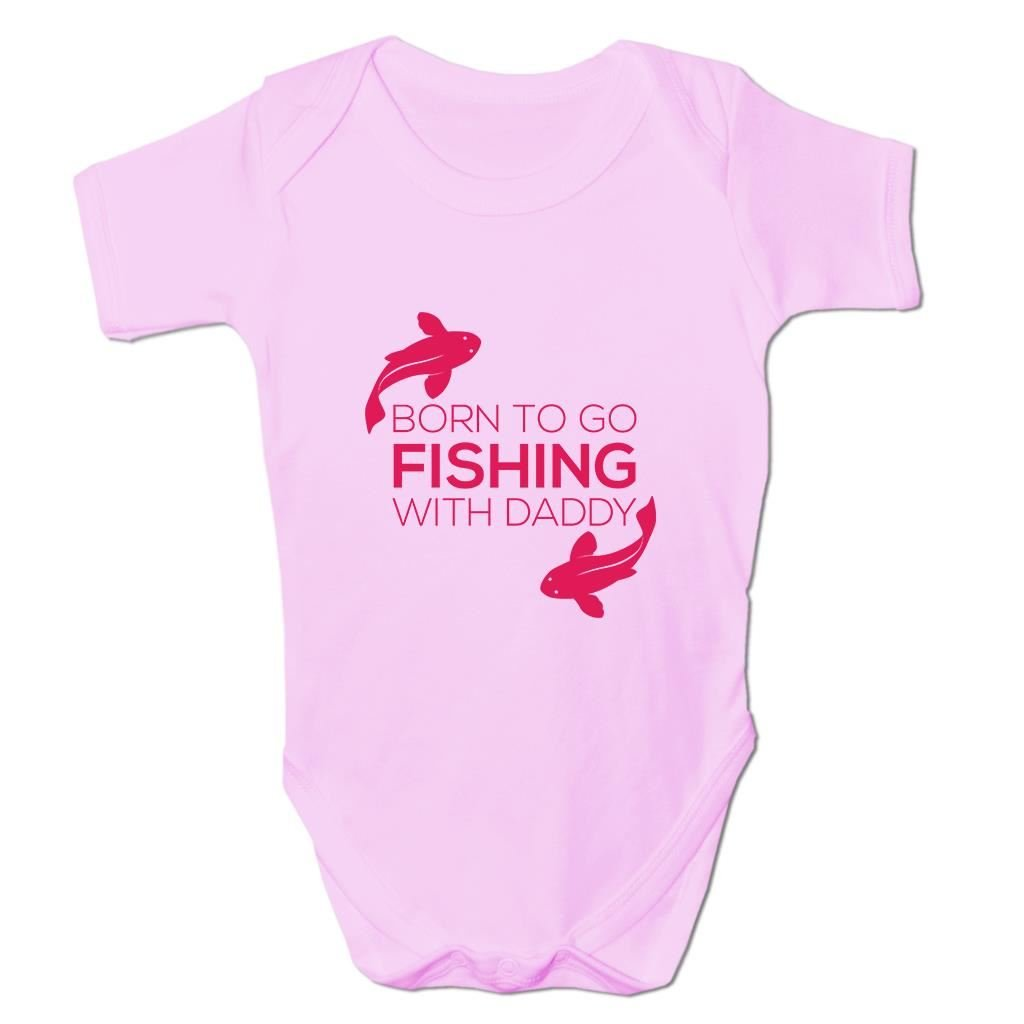 Baby Fishing Clothes Born To Go Fishing Baby Grow Fisherman Gifts for Baby Boy BANG TIDY CLOTHING TQ034P
