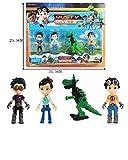 4pcs/Set Rusty Rivets Action Figure Toy Cartoon Figuras 9.5cm PVC Rivets Boys Anime Figure Toys for Kids Gift