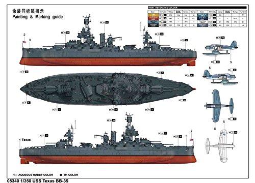 トランペッター 1/350 アメリカ海軍 戦艦 BB-35 テキサス プラモデル[並行輸入品]