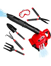 Kids Power Construction Tool Toy Leaf Blower Play Set, Boys Pretend Play Toy Outdoor Lawn Tools Air Blower Set for Toddlers