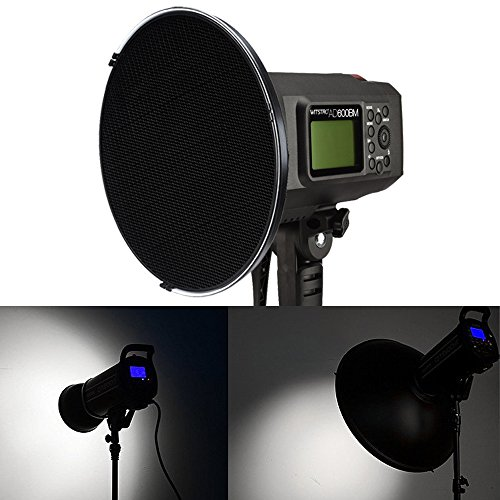 Godox 21'' 55cm Beauty Dish Reflector with Honeycomb Grid for Bowens Mount Studio Flash Strobe Monolight Such as Witstro AD600B AD600BM QT600IIM QT400IIM (Interior: White Bounce) by Godox (Image #4)