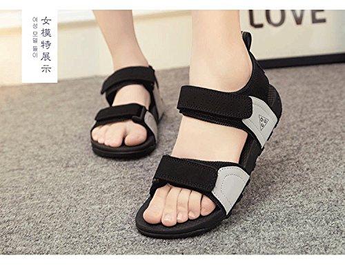Xing Lin Sandalias De Cuero Sandalias De Mujer Nuevo Soft Antideslizante Shoes Estudiante Pareja Ocasional De Deportes De Verano Calzado De Playa Plana Gray gray