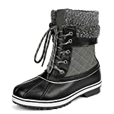 DREAM PAIRS Women's Monte_01 Grey Mid Calf Winter Snow Boots Size 8 M US