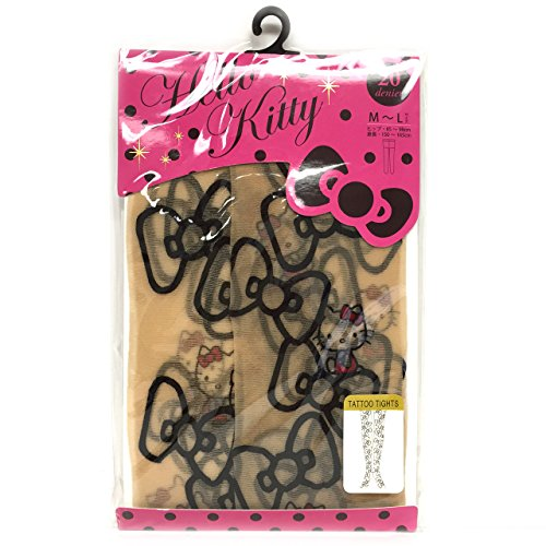 Hello Kitty Tattoo Tights Stocking (Size for M-L) (Hello Kitty Custome)