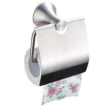 Chunlan Soporte para Papel higiénico Extra Fuerte para ventosas - Dispensador de Papel higiénico - Anti-óxido - Sin Perforaciones: Amazon.es: Hogar