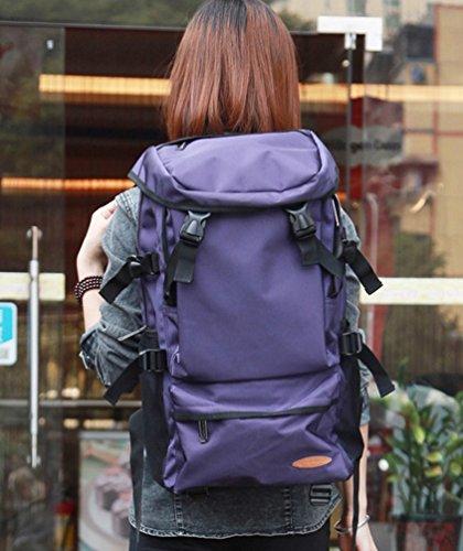 Scolastico Sport Di Tracolla Donne Viaggiano Grande Nylon Trekking Portatili Viola Zkoo Capacità In Borsa A Zaini Daypacks Delle Da q1Raxw8