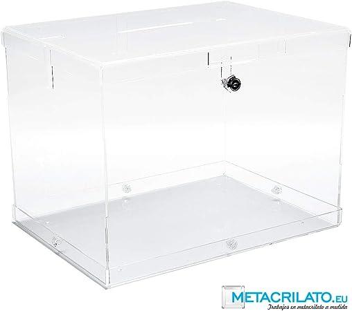 METACRILATO.EU Urna de metacrilato desmontable 40 x 30 x 30 cm: Amazon.es: Oficina y papelería