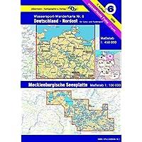Wassersport-Wanderkarte / Kanu-und Rudersportgewässer: Jübermann Wassersport-Wanderkarten, Bl.6, Deutschland Nordost