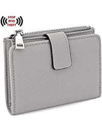 RFID Wallet for Women PU Leather Wallet Card Holder Organizer Girls Small Cute Coin Purse with Snap Closure