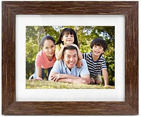Aluratek 7 Distressed Wood Digital Photo Frame with Auto Slideshow Feature, 800 x 600 ADPFD07F