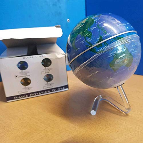 - Self Rotating Globe, Auto Spinning Desk Rotary Globe, Revolving Globe - World, Planet Earth Globe Sphere for Home, Office Desktop Decoration, Kids Educational Globe by Khandekar