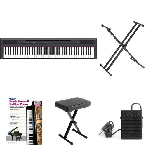 Yamaha P115 Intermediate Student Bundle with Stand, Bench, Sustain Pedal, Headphones and Learn to Play Book