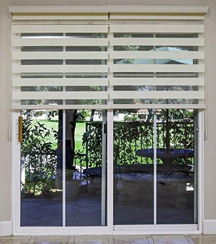 Attirant Amazon.com: Combi Shades Premium For French And Sliding Glass Door; Zebra  Dual Shades, Fabric: Soleil; DIY [1 Shade] (36w X 84h Inch, White): Home U0026  Kitchen