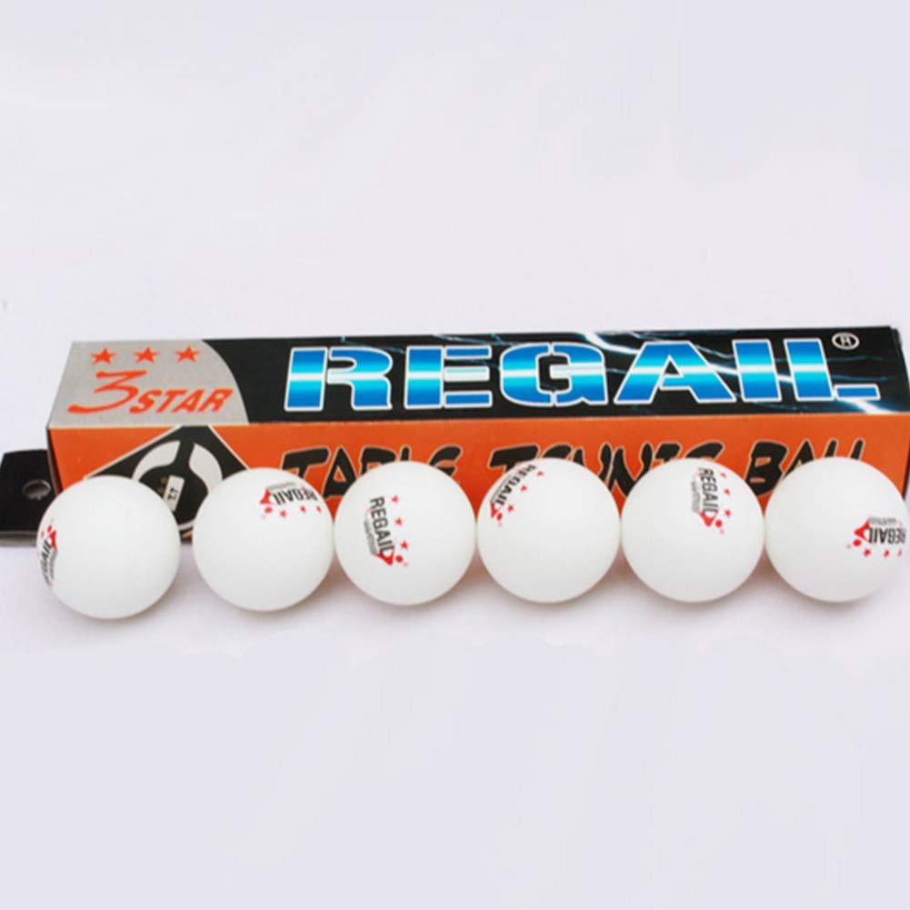 Rocita 6-Piece 3-Star Plus 40 mm Orange Table Tennis Balls Advanced Training Ping Pong White Balls