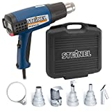 Steinel HG 2310 Case Set - Electronic Heat Gun with LCD Display, 1600 W power tool, temperature and airflow continuously variable, hot air gun with lockable override control, ideal for use on electronics and medical manufacturing, including multiple refle