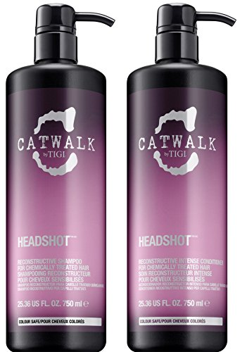 Catwalk Tigi Headshot Shampoo & Conditioner Set, 25.36 Fluid (Tigi Catwalk Head Shot)