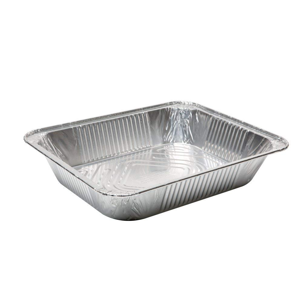 Aluminum Half Size Deep Foil Pan 10 packs 9 x 13-With Plastic Dome lids- Safe for use in freezer, oven, and steam table.pen,10 pack