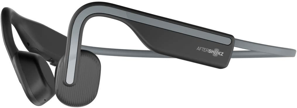 2020 OpenMove AfterShokz オープンムーブ ワイヤレスヘッドホン 骨伝導イヤホン 防水 Bluetoothイヤホン Zoomなどリモート会議 テレワーク 在宅勤務に使用可能 with Mic for Sport,Slate Grey