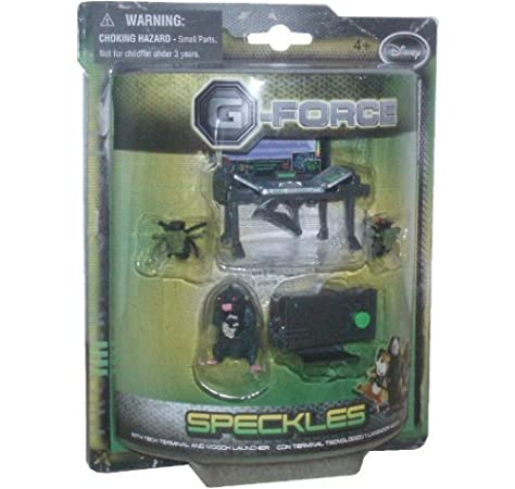 Amazon Com G Force Disney Movie Series Toy 2 Inch Tall Figure Speckles With Tech Terminal And Mooch Launcher Toys Games