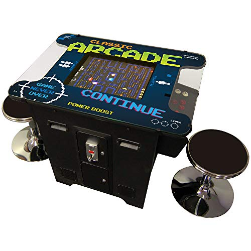 Cocktail Arcade Machine, Includes 60 Games, Commercial Grade, 2 FREE STOOLS ()