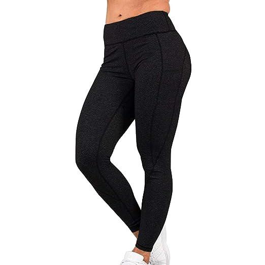 Syfinee - Pantalón de Yoga para Mujer, Talla Alta con ...