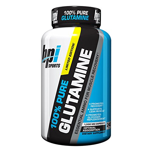 BPI Sports Glutamine Essential Amino Acid for Muscle Recovery, Supports Lean Muscle and Promotes Glycogen Replenishment, 240 - Supplement Glycogen
