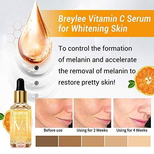 51GU2Ew6EfL - Vitamin C Serum, BREYLEE Anti-Aging Facial Serum with Hyaluronic Acid, Retinol, and Vitamin E Moisturizing Face Serum for Skin Whiten Skin Brighten, Fades Sun Spots (40ml, 1.41oz)