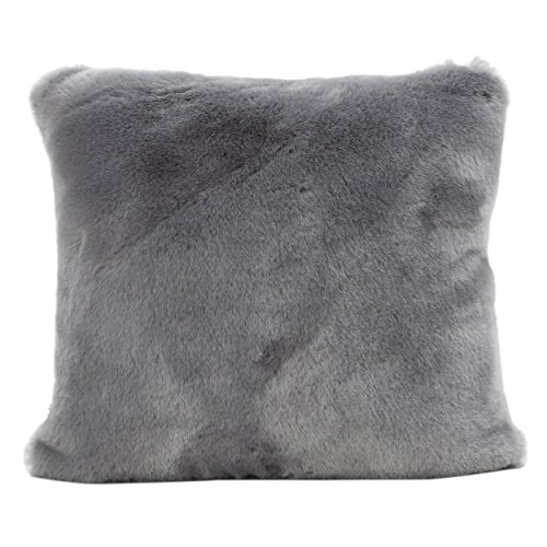 Christopher Knight Home Ellison Sterling Decorative Faux Fur Fabric Throw Pillow (Set of 2) | Ideal for The Living Room or Bedroom | Plush Texture