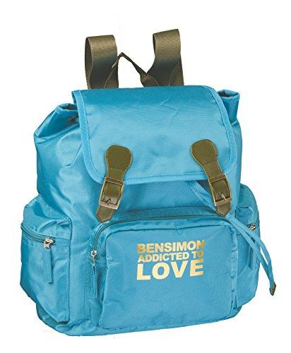 16 Bleu Bag School Retro cm Blue liters 37 BENSIMON qvPwgyXR