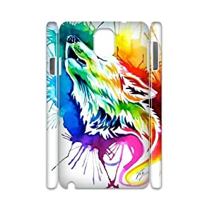 wolf DIY 3D Phone Case for Samsung Galaxy Note3 N9000,wolf custom 3d phone case series 1