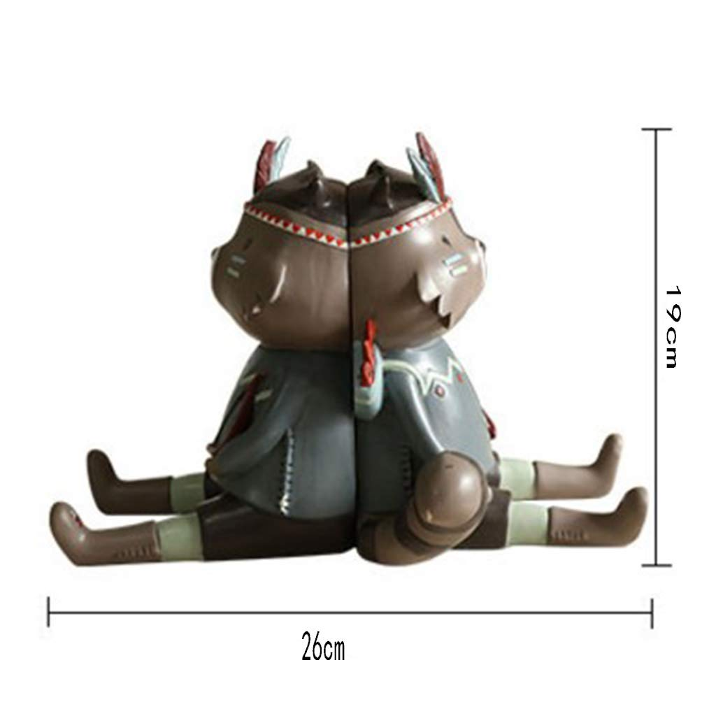Bookends for Kids-Creative Little Raccoon Bookend Decoration Personality Cute Home Children's Room Desktop Decoration Birthday Gift 2619