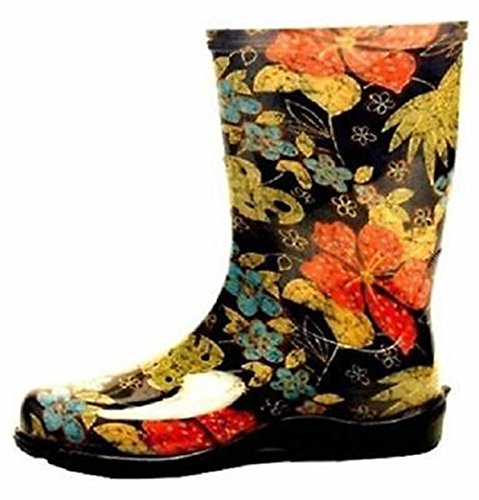 Sloggers 5002bk08 Size 8 Womens Garden Boots Black Print Waterproof Usa 4272621 (Sloggers Rain Boots For Women compare prices)