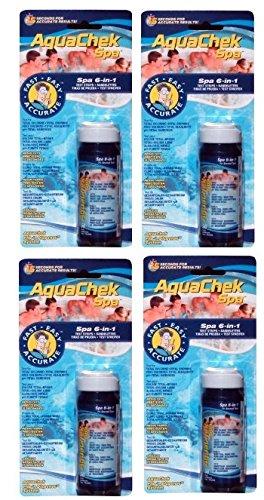 AquaChek 4 552244 6-in-1 Spa Hot Tub Pool Easy Use Test Strips Kit | 200 Strips