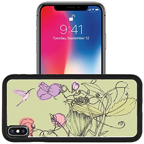 Red Designs Pea Sweet (Luxlady Apple iPhone x iPhone 10 Aluminum Backplate Bumper Snap Case IMAGE ID 25365716 Sweet pea and bird design card)