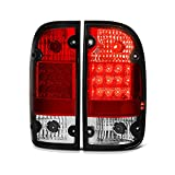 [For 1995-2000 Toyota Tacoma] VIPMOTOZ Premium LED Tail Light Lamp - Rosso Red Lens, Driver & Passenger Side