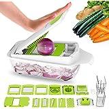 Lovkitchen Vegetable Chopper Dicer Slicer Cutter-Fruit & Vegetable Tools, Slicers for Fruits and Vegetables/Onion Salad Adjustable Stainless Steel Mandoline Food Salad Chopper