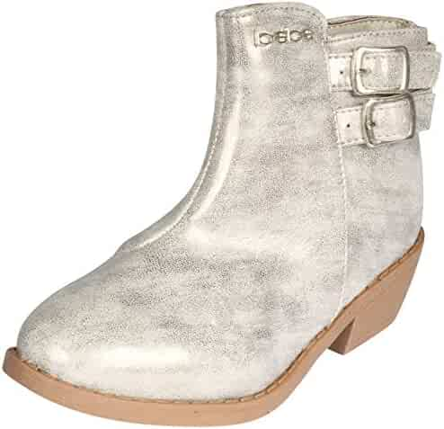 cbae33ccfc1 bebe Girls Distressed Metallic Ankle Boot (Toddler Little Kid Big Kid)