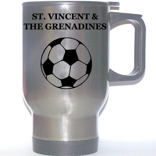 Grenadines Mug (Soccer Stainless Steel Mug - Saint Vincent And The Grenadines)