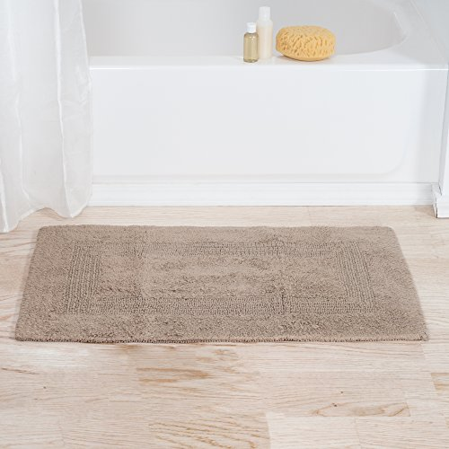 Lavish Home 67-MAT2040-T Reversible Bath Mat, Taupe