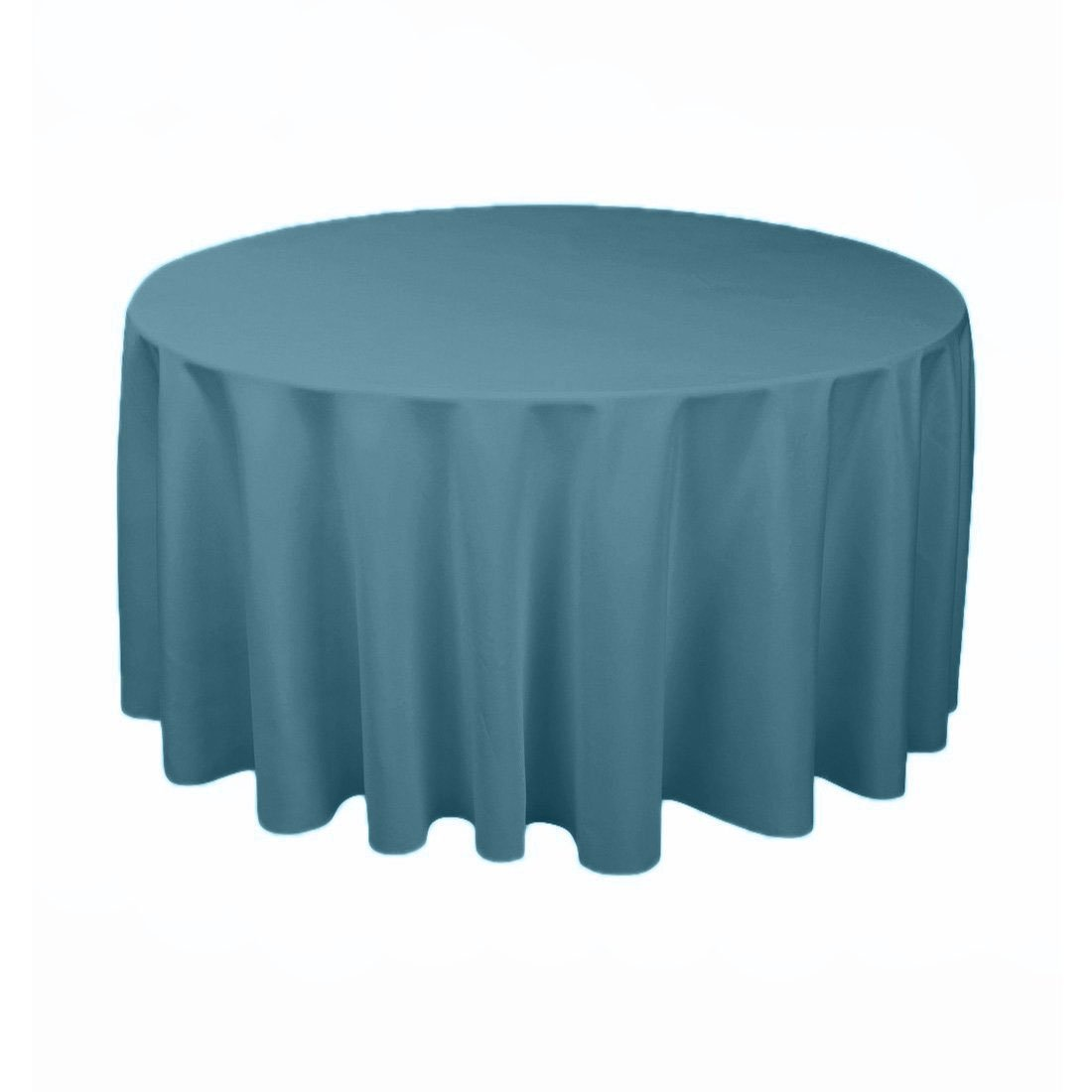 Tablecloth Polyester Round 108 Inch Steel Blue By Broward Linens by Broward Super Store