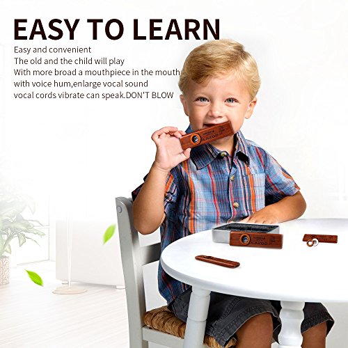 SUNYIN Wooden Kazoos,Exquisite Instrument Easy and Have Fun for Kids and People Hum Song